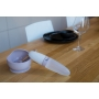 B-Suction Bowl Silicone & Spoon Pink