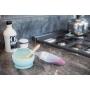 B-Food Dispenser Silicone Grey