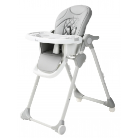 B-Dinner Chair Wheely Grey
