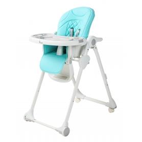 B-Dinner Chair Wheely Blauw