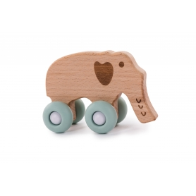 B-Woody Elephant on Wheels Pastel Blue