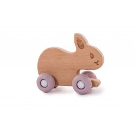 B-Woody Rabbit on Wheels Pastel Roze