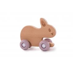 B-Woody Rabbit on Wheels Pastel Pink