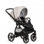 Cloud Grey PU Leather (Seat Unit + Car Seat Adapters + Rain Protection)