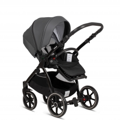 Shadow Grey PU Leather (Buggy Inzet + Autostoel Adapters + Regenbescherming)