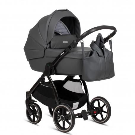 Shadow Grey PU Leather (Cradle + Nursery Bag)