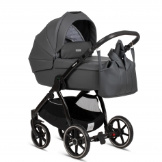 Shadow Grey PU Leather (Cradle + Nursery Bag)