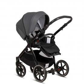 B-Cloud Grey PU Leather (Seat Unit + Car Seat Adapters + Rain Protection)