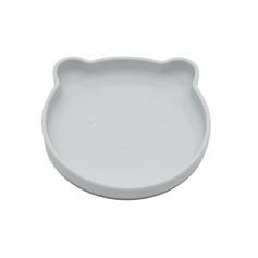 B-Suction plate Bear Grey