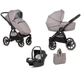 B-Shadow Grey Kinderwagen - Suvvy Frame - Full Option - Met autostoel