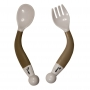 B-Bendable Spoon and Fork Taupe