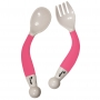 B-Bendable Spoon and Fork Pink