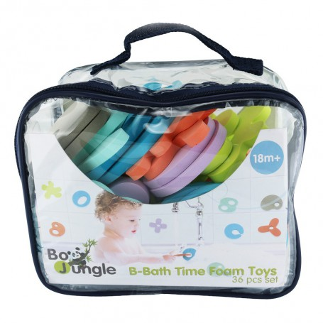 B-Bath Time Foam Toys 36 pcs set