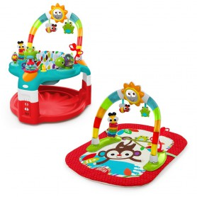 Silly Sunburst Activity Gym and Saucer (red)