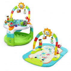 Laugh and Lights activity Gym and Saucer (green)