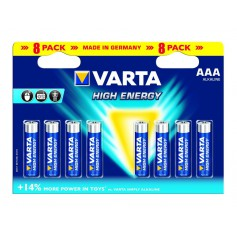 Varta High Energy 1,5 Volt AAA 8 pack