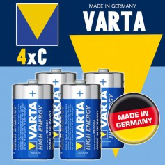 Varta High Energy 1,5 Volt C (4 pack)
