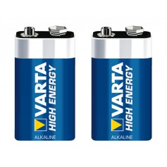 Varta High Energy 9 Volt Block E (2 pack)