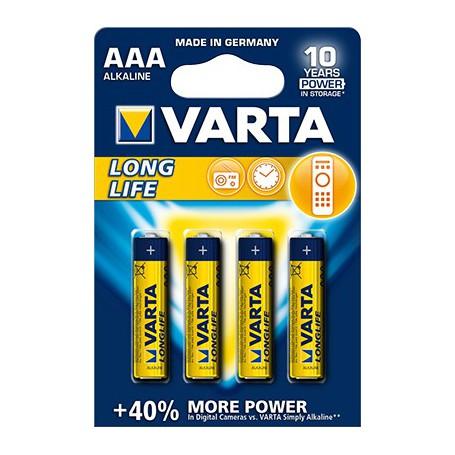Varta Long Life Accu 1,5 Volt AAA (4 pack)