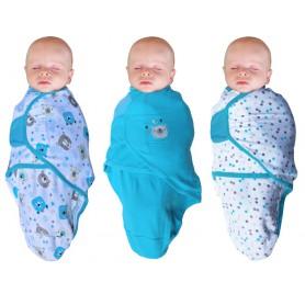 B-Wrap Bear 3-Pack Blauw Small