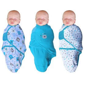 B-Wrap Bear 3-Pack Blue Small