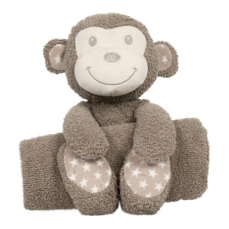 B-plush toy with blanketTambo le Singe