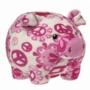 Piggybank Peaceful Pink 15cm