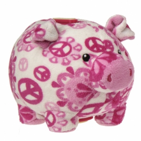 Piggybank Peaceful Pink 15cm