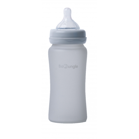 B-Thermo Glass Bottle 240 ml Grey