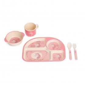B-Corn Dinner Set Roze Eenhoorn