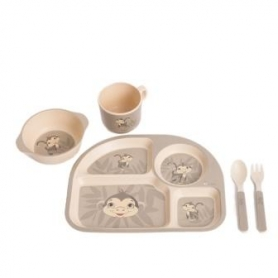 B-Corn Dinner Set Licorne Rose