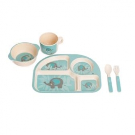 B-Corn Dinner Set Eléphant Bleu