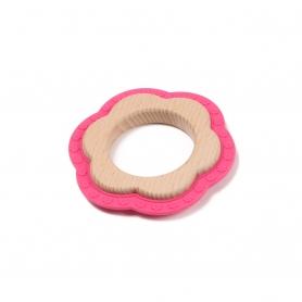 B-Wood Teethers Flower Pink