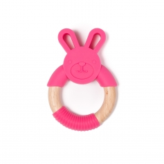 B-Wood Teethers Animal Pink Rabbit
