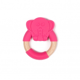 B-Wood Teethers Animal Elephant Rose