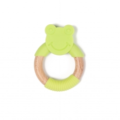 B-Wood Teethers Animal Grenouille Vert