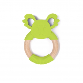 B-Wood Teethers Animal Green Koala