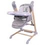 B-Swinging High Chair Wood Grey