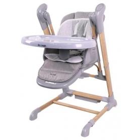 B-Swinging High Chair Wood Grijs